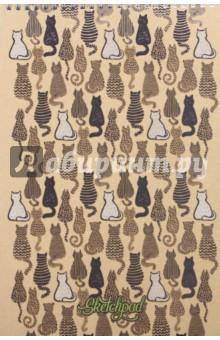 Скетчпад 40 листов, А4, евроспираль, Котики (СПСЛ4006)Блокноты (нестандартный формат)<br>Скетчпад<br>Количество листов: 40.<br>Тип бумаги: офсет.<br>Крепление: двойная спираль.<br>Формат: А4.<br>Сделано в России.<br>