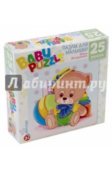 Пазл 25 элементов Медведь (6253)Пазлы (15-50 элементов)<br>Пазл  на 25 деталей. Собирая пазл, ребёнок в ненавязчивой игровой форме может развивать моторику рук и образное мышление. Составление пазла станет развивающим досугом для малыша и подарит хорошее настроение. Размер пазла 22х22.Рекомендуемый возраст 3+<br>
