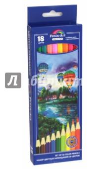 Набор цветных карандашей 18 цветов, ВОЗДУШНЫЕ ШАРЫ. Шестигранные (40034)Цветные карандаши 18 цветов (15—20)<br>Набор цветных карандашей, 18 цветов.<br>Яркие цвета, мягкое письмо, прочный грифель, удобная шестигранная форма, корпус из натуральной древесины, легко затачиваются. <br>Безопасны при использовании по назначению, не токсичны.<br>Срок годности не ограничен. Хранить в сухом месте.<br>Для детей от 3 лет.<br>Сделано в Китае.<br>
