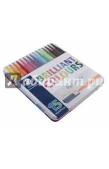 Набор фломастеров Brilliant Colours. Triplus Сolor (15 цветов) (323M15)Фломастеры 18 цветов (15—20)<br>Набор фломастеров Яркие цвета 323 серии, трехгранные, 1 мм, метал.<br>Упаковка с подвесом.<br>15 цветов.<br>Сделано в Германии.<br>