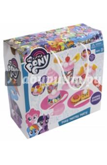 Набор My Little Pony Сладкая вечеринка (64810)Наборы игрушечной посуды<br>Тематические предметы игрового обихода для ролевых игр.<br>Набор Сладкая вечеринка My Little Pony. Комплектность: 34 элементов.<br>Рекомендуется детям старше трех лет.<br>Изготовлено из пластмассы.<br>Сделано в Китае.<br>