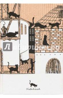 Книга для записей 160 листов, Город кошек (КЗЛ51602356)Записные книжки большие (формат А5 и более)<br>Книга для записей, клетка.<br>Белый блок. <br>Количество листов: 160.<br>Крепление: сшитый блок.<br>Бумага офсетная.<br>Сделано в России.<br>