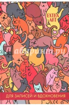 Книга для записей, 96 листов, А5 День кошек (КЗ5962544)Записные книжки большие (формат А5 и более)<br>Книга для записей День кошек.<br>Количество страниц: 96.<br>Бумага: офсет<br>Линовка: клетка<br>Крепление: книжное<br>Обложка: картон<br>Черно-белые иллюстрации.<br>Сделано в России.<br>