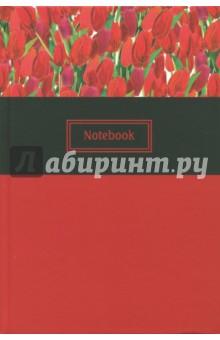 Записная книжка Красные тюльпаны (45618)Записные книжки большие (формат А5 и более)<br>Вашему вниманию предлагается датированная записная книжка в твердом переплете с ляссе.<br>