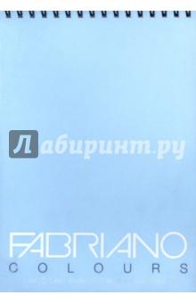 Блокнот 100 листов, А4 Writing Colors небесный  (42129704)Альбомы/папки для профессионального рисования<br>Альбом для графики на спирали Fabriano Writing Colors.<br>Размер:  21х29,7 см <br>Количество листов: 100.<br>Цвет бумаги: небесный<br>Сделано в Италии<br>