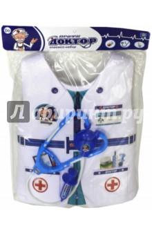 Набор костюм с жилетом Доктор (Т10484)Играем в профессии<br>Игровой набор Доктор.<br>3 предмета.<br>Материал: пластмасса.<br>Для детей старше 3-х лет.<br>Сделано в Китае.<br>
