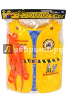 Набор костюм с жилетом Мастер (Т10486)Играем в профессии<br>Игровой набор Мастер.<br>3 предмета.<br>Материал: пластмасса.<br>Для детей старше 3-х лет.<br>Сделано в Китае.<br>