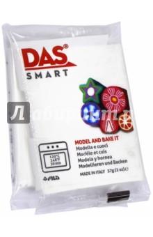Полимерная паста, 57 грамм DAS SMART белый (321001)Лепим из пасты<br>DAS SMART Полимерная паста для моделирования, 57 грамм, белый.<br>Для детей от 3 лет.<br>Сделано в Италии.<br>
