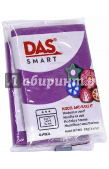 Полимерная паста. 57 грамм DAS SMART бордовый (321013)Лепим из пасты<br>DAS SMART. Полимерная паста для моделирования, 57 грамм, бордовый.<br>Для детей от 3 лет.<br>Сделано в Италии.<br>