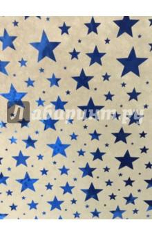 Бумага упаковочная крафт Синие звезды (76682)Подарочная упаковка<br>Крафт-бумага Синие звезды для сувенирной продукции. <br>В листах размером 100*70 см. <br>Немелованная. <br>С полноцветным декоративным рисунком.<br>Плотность 60 г/м2.<br>Свернута в рулончик.<br>Сделано в Индии<br>