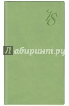 2018 Еженедельник датированный 64 листа, 140*80мм, ЗЕЛЕНЫЙ (45089)Ежедневники датированные А6<br>Еженедельник датированный, размер 140х80, 128 страниц, ляссе.<br>Материал: бумага офсетная, картон переплетный, полиуретан.<br>Сделано в Китае.<br>