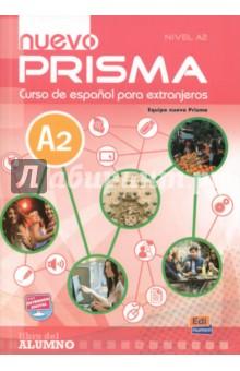 Nuevo Prisma. Nivel A2. Libro del alumno (+CD)Испанский язык<br>Nuevo Prisma es un curso de espaсol estructurado en seis niveles que sigue un enfoque comunicativo, orientado a la acciуn y centrado en el alumno, con el fin de fomentar el aprendizaje de la lengua para la comunicaciуn en espaсol dentro y fuera del aula.<br>Este curso supone una evoluciуn de Prisma, con una reorganizaciуn de contenidos a partir del PCIC y una renovaciуn importante de textos y actividades, ademбs de incorporar en sus dinбmicas las ъltimas tendencias metodolуgicas y nuevas herramientas interactivas y multimedia que aportan un plus al proceso de enseсanza/aprendizaje del espaсol, tanto dentro como fuera del aula.<br>Enfoque comunicativo, orientado a la accion y centrado en el alumno: concepcion comunicativa de la lengua que plantea el aprendizaje centrado en el alumno al que considera como un agente social que debe realizar tareas o acciones en diversos contextos socioculturales movilizando sus recursos cognitivos y afectivos.<br>Distribucion de contenidos segun las recomendaciones del MCER y conforme a los contenidos del PCIC.<br>Nuevos textos y actividades actualizadas.<br>Actividades especificadas con la etiqueta Sensaciones, que trabajan el componente afectivo como estrategia para motivar el aprendizaje y disminuir la ansiedad del estudiante.<br>Reflexion gramatical clara y accesible para el estudiante con actividades que hace que el estudiante participe de modo activo en su adquisicion. nuevo Prisma propone el aprendizaje de la gramatica como un ingrediente mas que debe estar al servicio de la comunicacion, un instrumento que permite alcanzar el objetivo comunicativo planteado.<br>Secuencias de actividades centradas en el trabajo cooperativo para que los alumnos trabajen juntos en la consecucion de las tareas optimizando su propio aprendizaje y el de los otros miembros del grupo.<br>Estrategias de aprendizaje y de comunicacion para que el alumno reflexione sobre su proceso de aprendiz