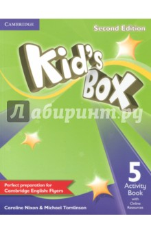Kids Box 2Ed 5 AB + Online ResourcesИзучение иностранного языка<br>Second edition of this popular course for young learners - now seven levels including Starter. Perfect preparation for Cambridge English Young Learners: Flyers Well-loved by children and teachers the world over, Kids Box is bursting with bright ideas to inspire you and your pupils. Perfect for general use, the course also fully covers the Cambridge Young Learners English (YLE) syllabus, preparing students for exam success. The Activity Book covers all the target language from the Pupils Book, including one YLE practice activity per unit. Students also have access to an online platform with games and supplementary grammar, vocabulary and reading activities. All the students online work can be tracked and reviewed by the teacher.<br>