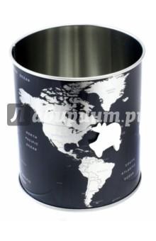 Подставка для канцелярских принадлежностей Globe (25567)Подставки, стаканы<br>Металлическая подставка для пишущих принадлежностей с круглой формой основания. <br>Для удобной организации пространства на рабочем столе. Украшена изображением карты мира, в комплекте самолёт-магнитик.<br>