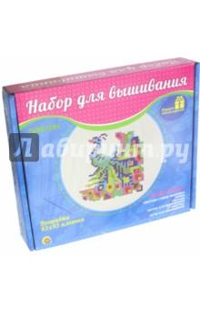 Павлин (НШ-7793)Вышивка<br>Вышивка 43х43 клетки. Набор для детского творчества.<br>В набор вышивания входят:<br>- цветная схема вышивки,<br>- канва,<br>- пяльцы,<br>- нитки для вышивания (7 цветов),<br>- игла для вышивания.<br>Материал: ткань, металл, пластик, бумага.<br>Произведено в Китае.<br>