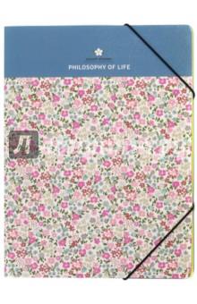 Папка на резинке Be Smart, Floret (N910)Папки-конверты на резинках<br>Папка на резинке<br>Размер: 224х310 мм.<br>Состав: картон, на резинке.<br>Сделано в Китае<br>