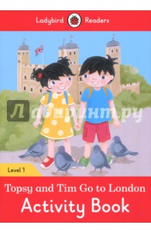 Topsy and Tim Go to London. Activity Book. Level 1Литература на иностранном языке для детей<br>Topsy and Tim are going to London with Mommy and Dad. They see the Tower of London and go on a boat. London is great!<br>Ladybird Readers is a graded reading series of traditional tales, popular characters, modern stories, and non-fiction, written for young learners of English as a foreign or second language.<br>Beautifully illustrated and carefully written, the series combines the best of Ladybird content with the structured language progression that will help children develop their reading, writing, speaking, listening and critical thinking skills.<br>The five levels of Readers and Activity Books follow the CEFR framework and include language activities that provide preparation for the Cambridge English: Young Learners (YLE) Starters, Movers and Flyers exams.<br>Topsy and Tim: Go to London, a Level 1 Activity Book, is Pre-A1 in the CEFR framework and supports YLE Starters exams. The activities encourage children to practice short sentences containing a maximum of two clauses, using the present tense and some simple adjectives.<br>
