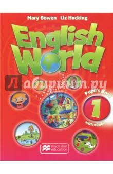 English World 1. Pupils Book with eBook (+CD)Изучение иностранного языка<br>English World - курс современного английского языка для детей младшего и среднего школьного возраста. Данный курс - отличное решение проблемы преемственности в изучении английского языка при переходе из начальной школы в среднюю. 10 учебных уровней (1-4 начальная школа, 5-10 - средняя школа) соответствуют уровням CEFR A0 Starter - B1+ Intermediate. В уровни 7-10 включается Exam Practice Book - пособие для подготовки к ГИА, которое содержит задания в формате экзамена. Материалы межкультурной и межпредметной направленности открывают перед учащимися возможность познавать мир через английский язык. Отработка грамматических явлений в диалогах, отражающих реальные жизненные ситуации.<br>Книга для учащегося содержит 12 основных разделов и вводный курс. Каждый раздел рассчитан примерно на 8 уроков с учётом развития ключевых навыков во всех видах речевой деятельности: чтении, устной и письменной речи, аудировании.<br>