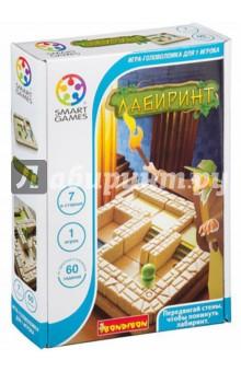 Логическая игра Лабиринт (BB0897/SG 437 RU)Другие настольные игры<br>Лабиринт - это увлекательная логическая игра. В этом таинственном египетском лабиринте стены двигаются сами. Куда приведут тебя запутанные пути: к спасительному выходу или в тупик? Один неправильный шаг - и ты можешь стать обедом для голодного крокодила. Что поможет тебе выбраться - интуиция или логический расчет? Эта игра для упорных и сообразительных. Пять уровней сложности, от новичка до мастера, рассчитаны на игроков от 7 лет, задания с ответами и правила включены в комплект игры.<br>Несмотря на то, что все логические задачи уже с ответами, не торопитесь узнавать решение, попробуйте найти его сами!<br>В комплект входят буклет с 48 заданиями с ответами, 8 деталей со стенами, пешка, игровая доска с отделением для хранения деталей.<br>Не рекомендуется детям до 3-х лет. Содержит мелкие детали.<br>Сделано в Китае.<br>