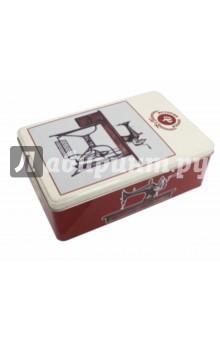 Коробка для бытовых нужд Советская швейная машинка (37671)Шкатулки<br>Коробка для бытовых нужд.<br>Размер: 20,2,х13,2х6,7 см.<br>Материал: черный окрашенный металл.<br>Сделано в Китае.<br>