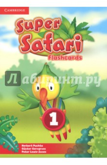 Super Safari 1. Flashcards (40)Изучение иностранного языка<br>These brightly coloured Flashcards Level 1 present the vocabulary for each unit of the Pupil s Book Level 1.<br>