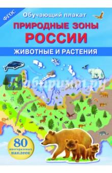 Природные зоны России. Животные и растения. ФГОСДемонстрационные материалы<br>Где живут белые медведи? Какие животные обитают в тундре, а какие в пустыне? Какие цветы украшают весной бескрайние степи? Благодаря этому плакату ты познакомишься с природными зонами нашей страны - самой большой страны в мире. Используя справочную информацию на обороте плаката, ты сможешь приклеить на карту природных зон России изображения соответствующих животных и растений.<br>