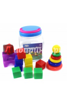 Набор Расти малыш (91040)Кубики с картинками<br>Развивающий игровой набор.<br>В набор входит: кубик (10 штук), пирамида, арка (2 штуки).<br>Кубики: 4х4 см.<br>Состав: пластмасса.<br>Для детей от 3-х лет.<br>Сделано в России.<br>
