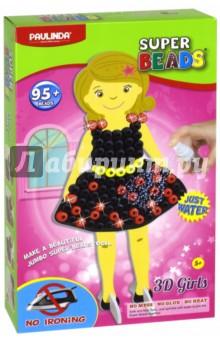 3D-мозаика Создай свое платье (95+ бусинок) (150105-1)Мозаика<br>Набор для детского творчества.<br>95+ бусинок.<br>Без использования утюга. Детали мозаики скрепляются с помощью воды в течении 30 минут.<br>Материал: пластмасса.<br>Не рекомендуется детям до 3 лет.<br>Сделано в Китае.<br>