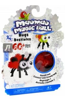 Конструктор-липучка Maomao Magic Ball (60+ элементов, 4 цвета) (060)Конструкторы из пластмассы и мягкого пластика<br>Конструктор-липучка.<br>Насекомые.<br>60+ элементов: 24 зеленых, 24 красных, 2 белых, 10 черных, 6 дополнительных деталей, инструкция.<br>Материал: пластмасса.<br>Не рекомендуется детям до 3 лет.<br>Сделано в Китае.<br>