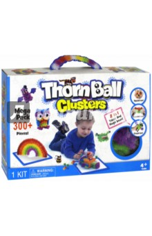 Конструктор-липучка ThornBall Clusters (300+ элементов, 8 цветов) (5511/WZ-A4866)Конструкторы из пластмассы и мягкого пластика<br>Конструктор-липучка.<br>300+ элементов: синие, зеленые, фиолетовые, желтые, оранжевые, красные, белые, черные, 36 дополнительных деталей.<br>Материал: пластмасса.<br>Не рекомендуется детям до 3 лет.<br>Сделано в Китае.<br>