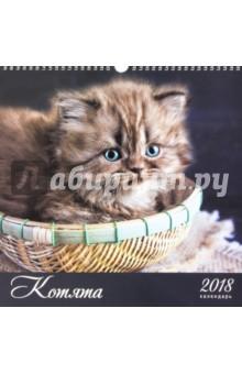 Календарь на 2018 год Домашние любимцы. Котята (настенный, квадратный) (КПКС1804)Настенные календари<br>Средний календарь на 2018 год, настенный, квадратный.<br>Крепление: спираль.<br>