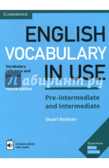 English Vocabulary in Use Pre-intermediate and Intermediate Book with Answers and Enhanced eBookАнглийский язык<br>The words you need to communicate with confidence. Vocabulary explanations and practice for pre-intermediate and intermediate level (B1) learners of English. Perfect for both self-study and classroom activities. Quickly expand your vocabulary with 100 units of easy to understand explanations and practice exercises. Also inside the book is a code for an ebook. This is the same as the printed book, but with audio so that you can listen to new words as well as reading them. The ebook is online for Windows and Mac users, and can also be downloaded to iPads and Android tablets.<br>