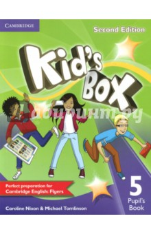 Kids Box 2ed 5 Pupils BkИзучение иностранного языка<br>Second edition of this popular course for young learners - now seven levels including Starter. Perfect preparation for Cambridge English Young Learners: Flyers. Well-loved by children and teachers the world over, Kids Box is bursting with bright ideas to inspire you and your pupils. Perfect for general use, the course also fully covers the syllabus of the Cambridge Young Learners English (YLE) tests, preparing your students for success at Starters, Movers and Flyers. The Pupils Book presents and practises new language through entertaining stories and fantastic songs and activities, making the learning process a joy. YLE-type tests in Levels 2, 4 and 6 assess progress, and familiarise children with the exam format.<br>
