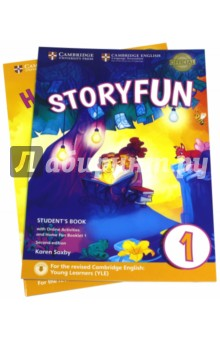 Storyfun for Starters. Level 1. Students Book with Online Activities and Home Fun. Booklet 1Изучение иностранного языка<br>Enjoyable and engaging practice for the revised 2018 Cambridge English: Young Learners (YLE). Storyfun Level 1 Students Book provides full-colour preparation material for Cambridge English: Starters. It contains eight fully-illustrated stories with accompanying activities for students to enjoy. These include songs and exam-style questions that practise the grammar, vocabulary and skills needed at each level. Extra speaking practice and projects provide opportunities for extension beyond the units. The Students Book now comes with a Home Fun Booklet which provides activities for students to complete at home, and allows parents to support learning. Fun Online Activities in the Cambridge Learning Management System (CLMS) are accessed via a code in the front of the book.<br>