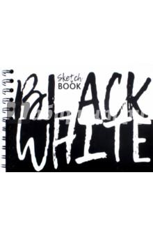 Скетчбук Black WhiteБлокноты большие нелинованные<br>Этот эффектный блокнот изготовлен из высококачественной бумаги, имеет 100 черных, черно-белых листов, твердый переплет и удобный корешок на спирали.<br>