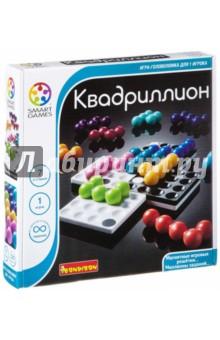 Игра логическая Квадриллион (1057ВВ/SG 540 RU)Другие настольные игры<br>Игру на развитие логики Квадрилион можно взять с собой в дорогу, на дачу или даже в гости, так как у нее компактная и удобная упаковка. Игра прекрасно помогает скоротать время в поезде, в самолете, в машине или просто в ожидании…<br>К коробочке прилагается буклет, в котором более сотни заданий на логику.  Это интересная и занимательная игра как для детей, так  и взрослых.<br>Игра направлена на активное развитие и тренировку важных функций у детей и взрослых, таких как:  логическое мышление и познавательные способности, развитие фантазии, мелкая моторика, тренировка памяти, социальное развитие, концентрация внимания, креативность мышления, принятие верных и быстрых решений.<br>Логические игры - необходимое занятие для правильного развития ребёнка, и прекрасный способ провести время в кругу семьи с удовольствием и пользой. Для того, чтобы начать игру, необходимо защелкнуть 4 магических решетки вместе и создать свое игровое поле. Цель игры - расположить 12 цветных деталей головоломки на игровом поле. Все бесчисленные конфигурации имеют свое решение. Все детали, упаковка изготовлены из высококачественных материалов, совершенно безопасных для детей.<br>В набор входят: четыре части игрового поля, 12 элементов головоломки и буклет с правилами игры на русском языке и заданиями для сборки.<br>Для детей от 7-ми лет.<br>Не рекомендуется детям до 3-х лет. Содержит мелкие детали.<br>Сделано в Китае.<br>