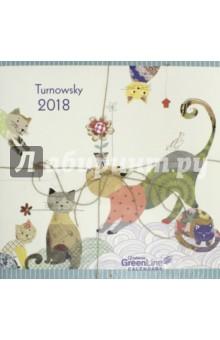 Календарь 2018 Турновски 30*30 (95477)Настенные календари<br>Календарь на 2018 год, настенный, ежемесячный.<br>Бумага мелованная, обложка глянцевая.<br>Формат: 300х300 мм. <br>Крепление: скрепка.<br>Количество листов: 12.<br>Верхняя половина - фотография, нижняя половина - календарный месяц.<br>