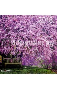 Календарь 2018 Магические сады 30*30 (95602)Настенные календари<br>Календарь на 2018 год, настенный, ежемесячный.<br>Бумага мелованная, обложка глянцевая.<br>Формат: 300х300 мм. <br>Крепление: скрепка.<br>Количество листов: 12.<br>Верхняя половина - фотография, нижняя половина - календарный месяц.<br>