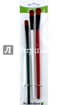Набор кистей (3 штуки, синтетика, № 2, 4, 6, плоские) (S-1716)Набор кистей<br>Набор кистей нейлоновых плоских, с деревянной рукояткой.<br>В наборе 3 штуки.<br>Номера 2, 4, 6.<br>Материал: древесина, металл, нейлон.<br>Сделано в Китае.<br>