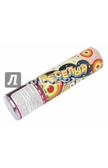 Пневмохлопушка праздничная 20 см (серпантин+конфетти) (75867)Праздничные акссесуары<br>Праздничная пневмохлопушка на основе сжатого воздуха с наполнителем из  разноцветного конфетти из ПВХ и серпантина из бумаги <br>Размер: 20 см<br>Сделано в Китае<br>
