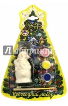 Набор новогодний для творчества Снеговик (75929)Раскрашиваем и декорируем объемные фигуры<br>Новогодний набор для творчества.<br>Новогоднее подвесное украшение.<br>В наборе: украшение из доломитовой керамики, 3 акварельные краски, кисть.<br>Размер: 4х3,5х7,5 см.<br>Материал: Доломитовая керамика.<br>Сделано в Китае.<br>