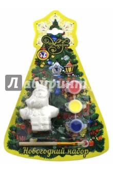 Набор новогодний для творчества Дед мороз с подарком (75924)Раскрашиваем и декорируем объемные фигуры<br>Новогодний набор для творчества.<br>Новогоднее подвесное украшение.<br>В наборе: украшение из доломитовой керамики, 3 акварельные краски, кисть.<br>Размер: 4х3,5х7,5 см.<br>Материал: Доломитовая керамика.<br>Сделано в Китае.<br>