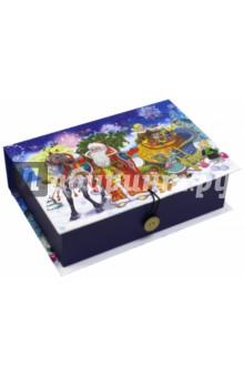 Коробка подарочная Дед Мороз с ёлкой (39262)Другое<br>Подарочная коробка.<br>Размер: 20х14х6 см.<br>Изготовлена из мелованного, ламинированного, негофрированного картона плотностью 1100 г/м2, с полноцветным декоративным рисунком на внутренней и наружной части.<br>Сделано в Китае.<br>