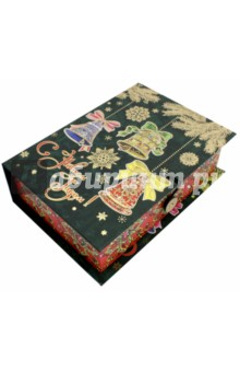Коробка подарочная Елка с колокольчиками (75023)Другое<br>Коробка подарочная.  <br>Материал: мелованного, ламинированного, негофрированного картона плотностью 1100 г/м2<br>Полноцветный декоративный рисунок на внутренней и наружной части<br>Размер 20 х 14 х 6 см.<br>Сделано в Китае.<br>