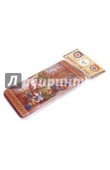 Коробочка для денег Мешок с подаками (76340)Конверты для денег<br>Коробочка подарочная для денег.<br>Размер 16,6 х 7,6 х 1 см.<br>Материал: черный окрашенный металл.<br>Упаковка: пакет с подвесом.<br>Сделано в Китае.<br>