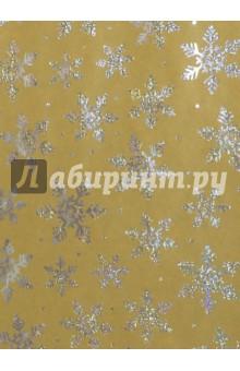 Бумага крафт Серебряные снежинки (76694)Подарочная упаковка<br>Крафт бумага для сувенирной продукции в листах.<br>Немелованная, с полноцветным декоративным рисунком, плотность 60 г/м2.<br>Свернута в рулон.<br>Размер: 100х70 см.<br>Сделано в Китае.<br>