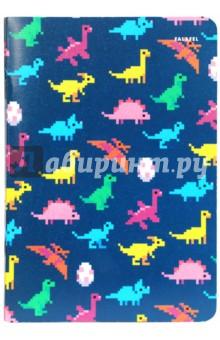 Блокнот Dinosaurs (A5, 40 листов, кремовая бумага) (402783)Блокноты большие нелинованные<br>Блокнот. <br>Формат А5 (138х200 мм), 40 листов кремовой бумаги 80 г/м2, без линовки, крепление на скрепку, обложка из плотной бумаги 300 г/м2.<br>Сделано в России.<br>