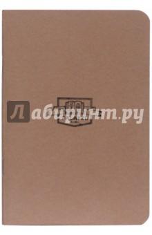 Блокнот Brown (A6, 40 листов, без линовки, кремовая бумага) (402704)Блокноты большие нелинованные<br>Формат A6 (95х138 мм), 40 листов кремовой бумаги 80 г/м2, без линовки, крепление на нитку, обложка из плотной бумаги 270 г/м2.<br>Сделано в России.<br>