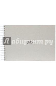 Скетчбук (62 листа, А4, гребень, кремовая бумага) (402745)Блокноты (нестандартный формат)<br>Скетчбук.<br>Формат А4.<br>62 листа.<br>Внутренний блок: кремовая бумага 160 г/м2.<br>Нелинованный.<br>Крепление: пружина<br>Лицевая и задняя обложка (подложка) выполнена из очень плотного переплетного картона серого цвета толщиной 2,5 мм (1575 г/м2).<br>Сделано в России.<br>