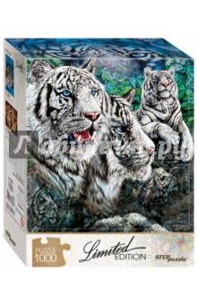Puzzle-1000 Найди 13 тигров (79808)Пазлы (1000 элементов)<br>Загадочная картина калифорнийского художника Стивена Гарднера надолго увлечёт вас и вашего ребёнка. Соберите пазл и постарайтесь найти всех белых тигров!<br>Пазл понравится как любителям животных, так и истинным пазломанам. Камни, полосатый узор шерсти - найти нужные детали будет непросто...<br>Limited Edition - серия пазлов с уникальной формой деталей.<br>Тираж ограничен. <br>Пазл состоит из 1000 элементов.<br>Размер: 68х48 см.<br>Материал: картон.<br>Рекомендуется детям старше 7-ми лет.<br>Запрещено детям до 3-х лет. Содержит мелкие детали.<br>Сделано в России.<br>